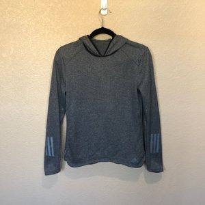 Adidas Climalite Gray Fleece-lined Pullover